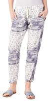 Michael Stars Women's Print Drawstring Ankle Pants