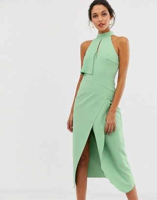 C/Meo high heart midi dress