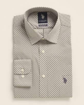 U.S. Polo Assn. Regular Fit Diamond Print Dress Shirt