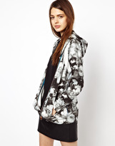 Paul Smith Paul by Mono Rose Print Hooded Top