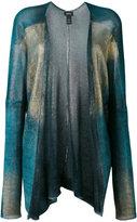 Avant Toi colour block cardigan - women - Linen/Flax - M