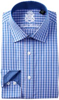 English Laundry Micro Check Trim Fit Dress Shirt