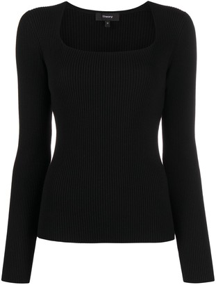 Theory Square Neck Knit Jumper