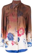 Salvatore Ferragamo floral print shaded shirt - women - Silk - 40
