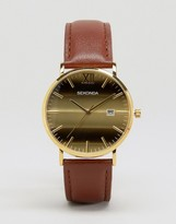 Sekonda Tan Leather Watch With Gold Dial Exclusive To ASOS
