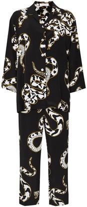 Olivia von Halle Casablanca Ciro snake-print pyjamas