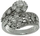 Van Cleef & Arpels Snowflake Diamond Platinum 2-Flower Ring