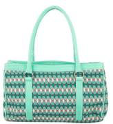 Missoni Leather-Trimmed Knit Tote