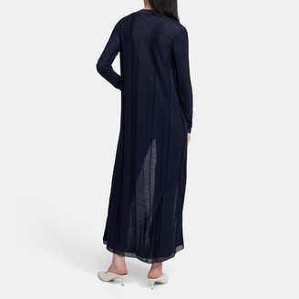 Theory Long Cardigan in Viscose-Wool