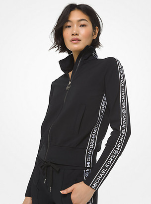 Michael Kors Logo Tape Modal Blend Track Jacket