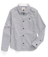 Armani Junior Boy's Logo Print Dress Shirt