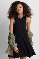 American Eagle Outfitters AE Tipped Hi-Neck Shift Dress