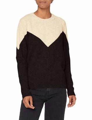 Vero Moda Women's VMPLAZA LS Blouse GA Boo Sweater