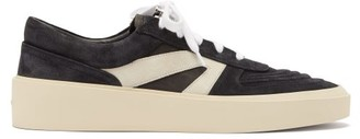Fear Of God Skate Raised-sole Suede Trainers - Black