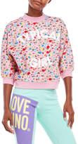 Love Moschino Floral Cotton Sweatshirt