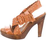 Loeffler Randall Leather Platform Sandals