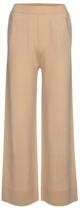 Jardin Des Orangers Wool and cashmere wide-leg pants