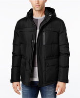 Kenneth Cole New York Herringbone Down Puffer Jacket with Removable Hood