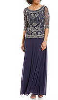 Pisarro Nights Beaded Bodice Two-Piece Gown