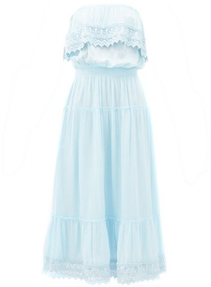 Melissa Odabash Clara Strapless Midi Dress - Womens - Light Blue
