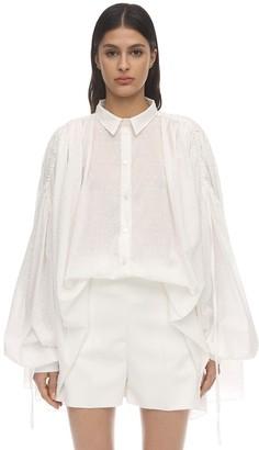 Redemption Textured Cotton Maxi Shirt