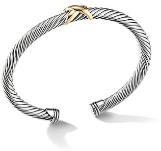David Yurman X Crossover Bracelet With 14K Yellow Gold