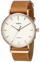 Timex Fairfield Leather Slip-Thru Strap