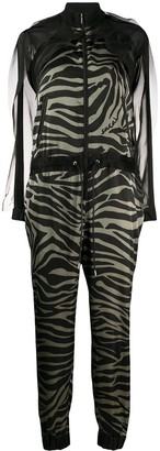 Sacai Sheer Tiger Stripe Jumpsuit