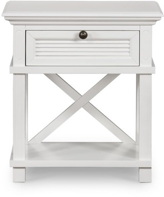 One World Henley Bedside Table White