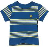 Lyle & Scott Baby Boys Double Stripe T-Shirt True Blue