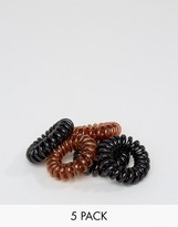 Asos Pack of 5 Mini Black & Brown Jelly Hair Coils
