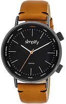 Simplify Black Orange Strap Watch