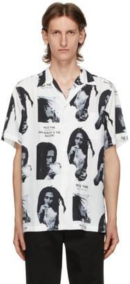 Wacko Maria White Bob Marley Edition Hawaiian Short Sleeve Shirt