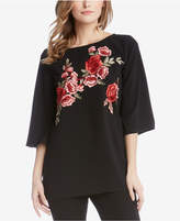 Karen Kane Embroidered Rose Tunic, Created for Macy's