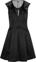 Sandro Roxette embellished twill mini dress