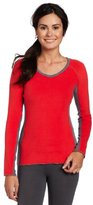 Cuddl Duds Women's Color Blocked V-Neck Sweater