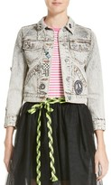 Marc Jacobs Women's Overdye Bleach Denim Jacket