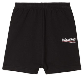 Balenciaga Kids Unisex Cotton-blend Shorts - Black