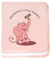 CafePress - Grandpa's Little Peanut - Pink baby blanket - Baby Blanket, Super Soft Newborn Swaddle