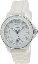 Fossil Women's CE1034 Silicone Analog Quartz Watch with Dial