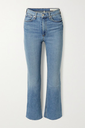 Rag & Bone Nina Cropped High-rise Flared Jeans - Light blue