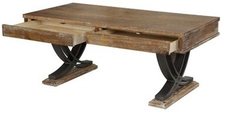 Union Rustic Brunson Coffee Table with Tray Top and Storage