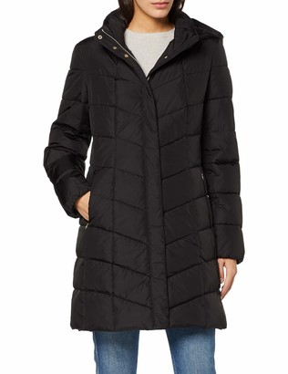 Geox Women's Annytah Long Funnel Neck Jacket with Hood Outerwear