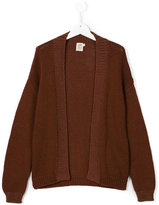 Caffe' D'orzo - open front knitted cardigan - kids - Cotton - 14 yrs