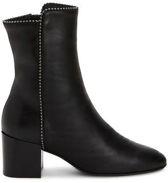 Aquatalia Faustina Bead-Trim Leather Ankle Boots