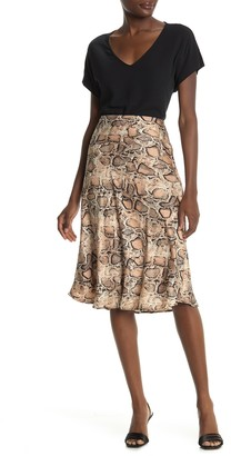 Catherine Malandrino Long Woven Printed Skirt
