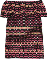 M Missoni Layered crocheted cotton-blend top