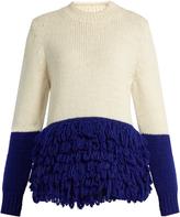 DELPOZO Fringed alpaca-blend chunky-knit sweater