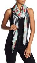 David & Young Watermelon Stripe Wrap Scarf