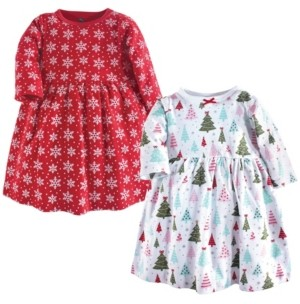 Hudson Baby Cotton Dress, 2-Pack, 0 Months-5T